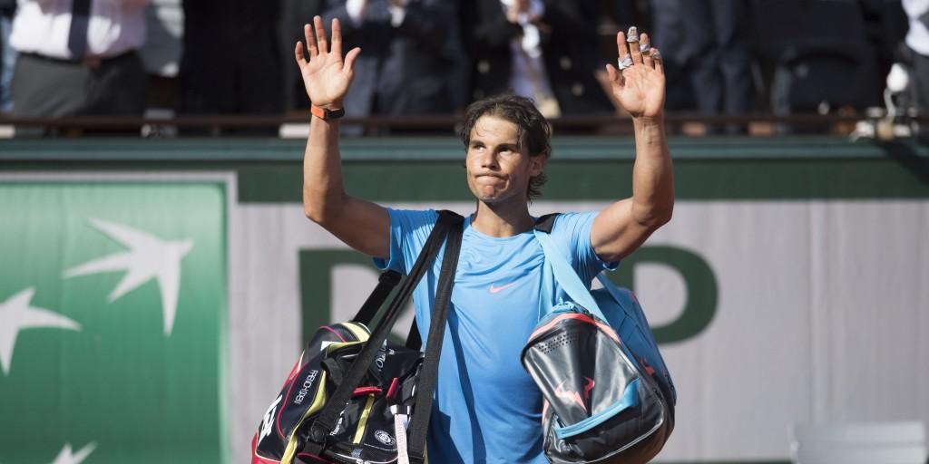 Nadal diz adeus a Roland Garros