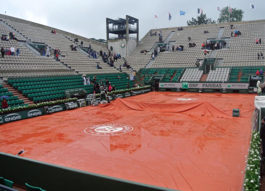 Chuva cancela rodada em Roland Garros
