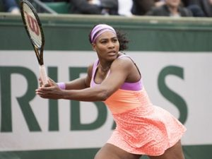 May 28, 2015 Serena Williams in action at the French Open played at Stade Roland Garros, Paris, France