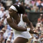 July 6,2015 Serena Williams in action during the Wimbledon Championships, played at the AELTC, London, England