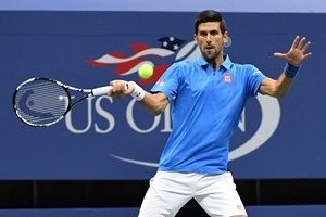 August 29, 2016 - Novak Djokovic of Serbia in action against Jerzy Janowicz of Poland during the 2016 US Open at the USTA Billie Jean King National Tennis Center in Flushing, NY.
