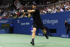 August 30, 2016 - Andy Murray of Great Britain in action against Lukas Rosol of the Czech Republic during the 2016 US Open at the USTA Billie Jean King National Tennis Center in Flushing, NY.
