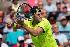 September 2, 2016 - Jack Sock in action against Marin Cilic during the 2016 US Open at the USTA Billie Jean King National Tennis Center in Flushing, NY.