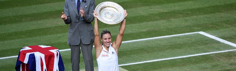 Com grande atuação, Kerber vence Serena e conquista seu 1º título de Wimbledon