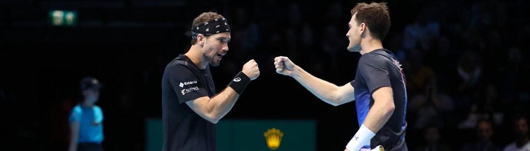 Bruno Soares e Jamie Murray encerram a 1ª fase invictos e em 1º do grupo no ATP Finals