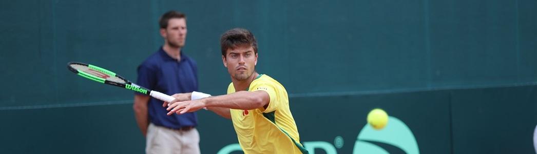 Menezes leva virada, Monteiro vence e Brasil e Barbados empatam confronto no 1º dia da Copa Davis