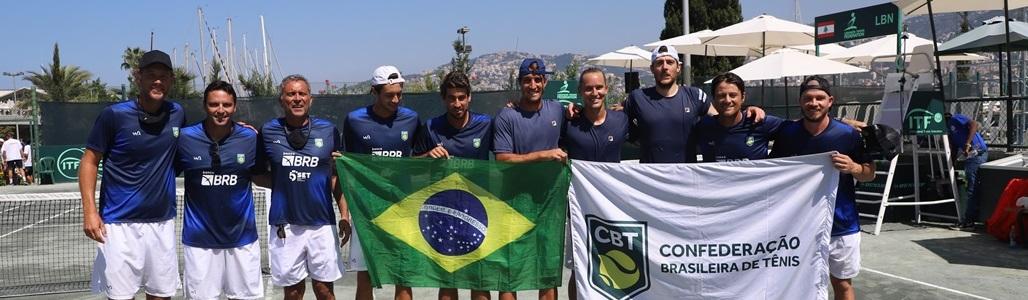 Brasil vence o Líbano por 4 a 0 e se classifica para o Qualifiers da Copa Davis